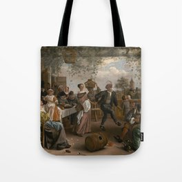 Jan Steen The Dancing Couple 1663 Painting Tote Bag