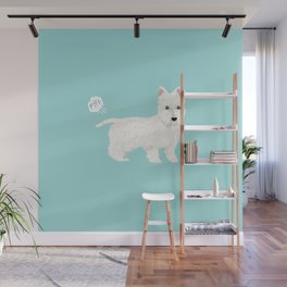 westie funny farting dog breed pure breed pet gifts west highland terrier Wall Mural