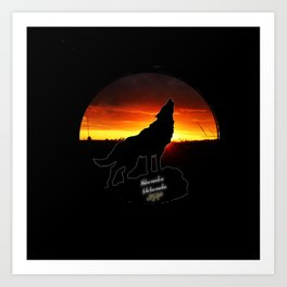 Stay Gold Lone Wolf Art Print