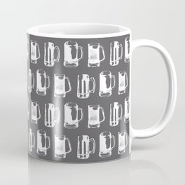 Beer Mugs on Charcoal Coffee Mug