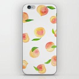 Fun Watercolor Peaches iPhone Skin