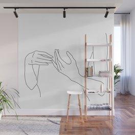 Line Hands 2 Wall Mural