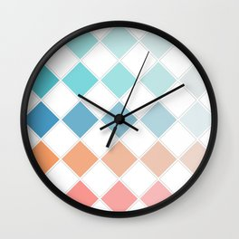 Chequers Wall Clock