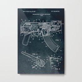 2007 - Firearm bolt locking mechanism patent art Metal Print