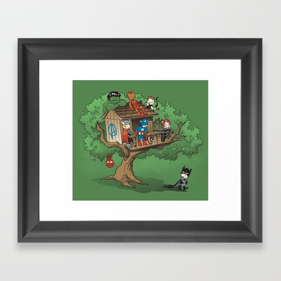 Super Exclusive Club Framed Art Print