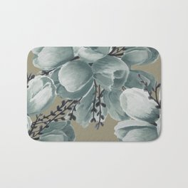 Spring Tulips Neutral  Bath Mat