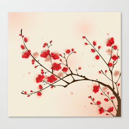 Oriental plum blossom in spring 009 Canvas Print