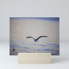 Seagulls on the seacoast near Alghero Mini Art Print