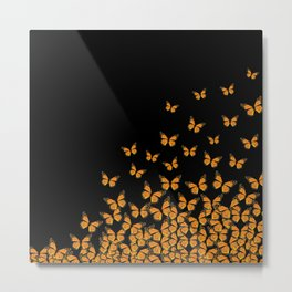 Imperial Butterfly Dark Metal Print