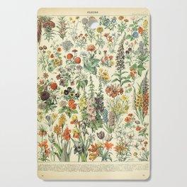 Adolphe Millot Vintage Fleurs Flower 1909 Cutting Board
