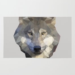 Lowpoly Wolf Rug