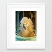 pagan Framed Art Prints featuring Sad Pagan by Anniz