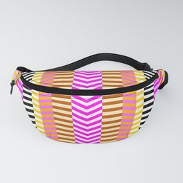 Abstract lines in pink Fanny Pack