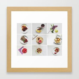Morning stories - FRUIT set Framed Art Print