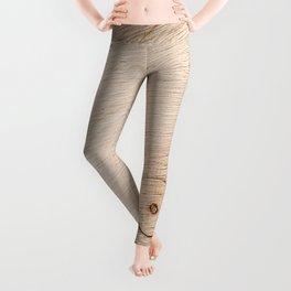 Real Wood Texture / Print Leggings