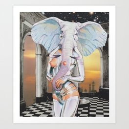 Elephant in a Room Art Print