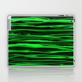 Lime Green and Black Stripes Laptop & iPad Skin