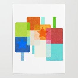 Mondrian's Ice Poster