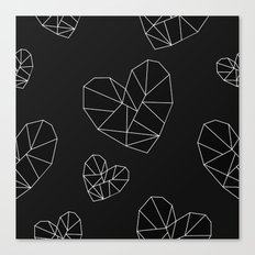 Geometric Hearts Canvas Print
