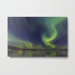 Northern Lights. Aurora borealis Metal Print