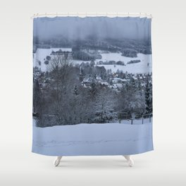 White Snowy Brotterode Shower Curtain
