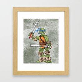 Leonardo TMNT Print - !TURTLE POWER! Framed Art Print