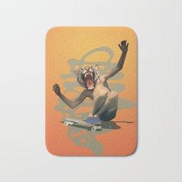 Vintage Urban Skate Tiger Boy Pepe Psyche Sun Bath Mat