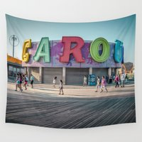 carousel Wall Tapestries featuring Carousel  by MikeMartelli