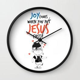 JESUS first Wall Clock