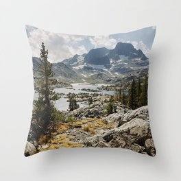 Partly Cloudy Afternoon in the Eastern Sierra Throw Pillow
