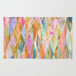 Justine Abstract Brushstrokes Pattern Rug
