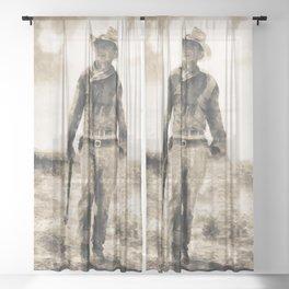 John Wayne Sheer Curtain