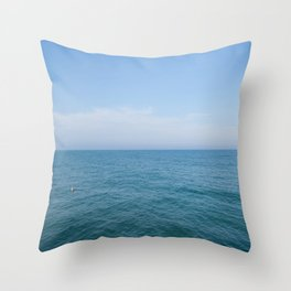 Floating to Blue Throw Pillow