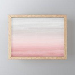 Touching Blush Gray Watercolor Abstract #1 #painting #decor #art #society6 Framed Mini Art Print