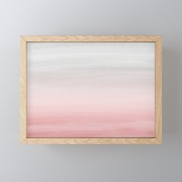 Touching Blush Gray Watercolor Abstract #1 #painting #decor #art #society6 Framed Mini Art Print
