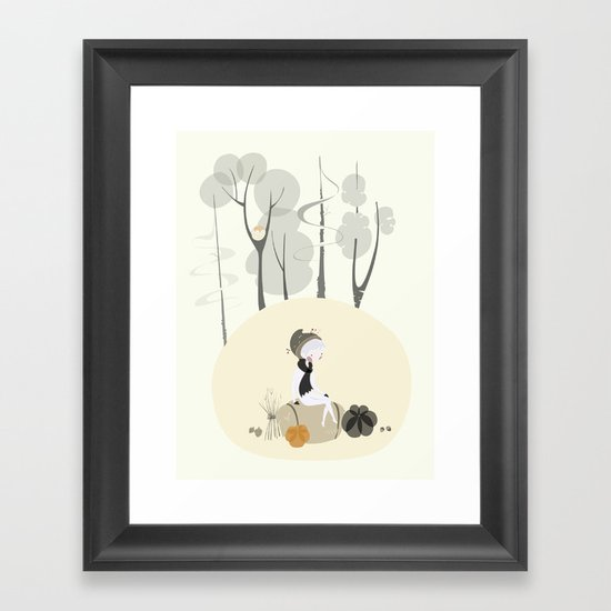 Our Elf of the Harvest Framed Art Print