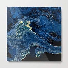 Lapislazuli and Gold #Society6 #decor #buyart Metal Print