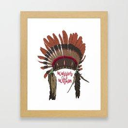 Warrior Within Head Dress Framed Art Print