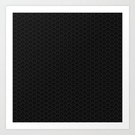 Black Metal Hexagon Shape Pattern Art Print