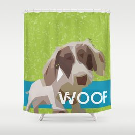 """WOOF"" ~ Dachshund, Weiner Dog, Doxie, everywhere! Shower Curtain"