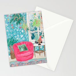 Pink Tub Chair Stationery Cards