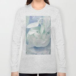 Peony in Blue White Long Sleeve T-shirt