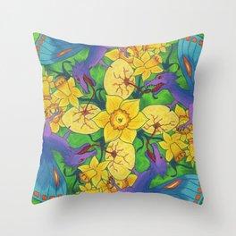 Dragondala Spring Throw Pillow