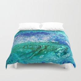 Colors of the Sea No.3 / acrylic pour art Duvet Cover