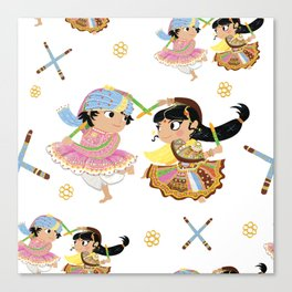 Navratri Pattern Canvas Print