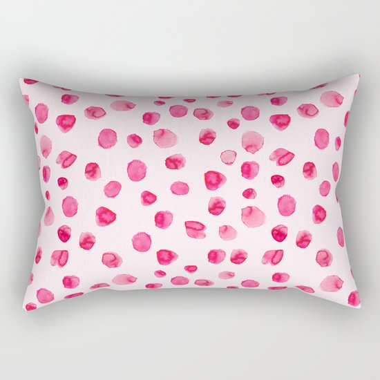 Think pink || Watercolor brushstrokes pattern Rectangular Pillow