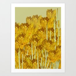 Autunm flowers Art Print