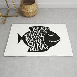keep swimming Rug