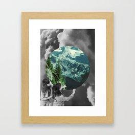 Green Melody Framed Art Print