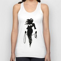 justice league Tank Tops featuring justice Silhouette #4 by iankingart